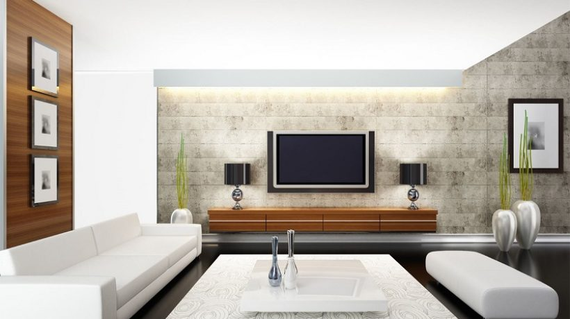 How to decorate tv area?